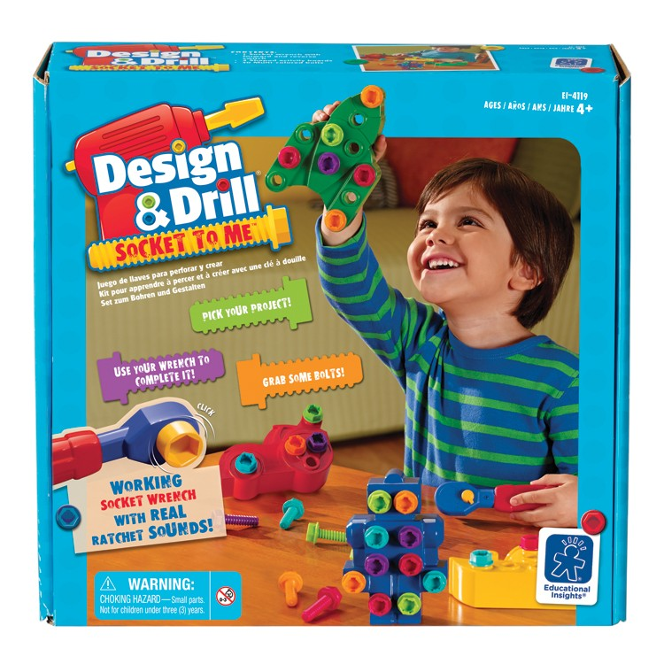 Design & Drill Socket to Me Building Toy - Educational ...