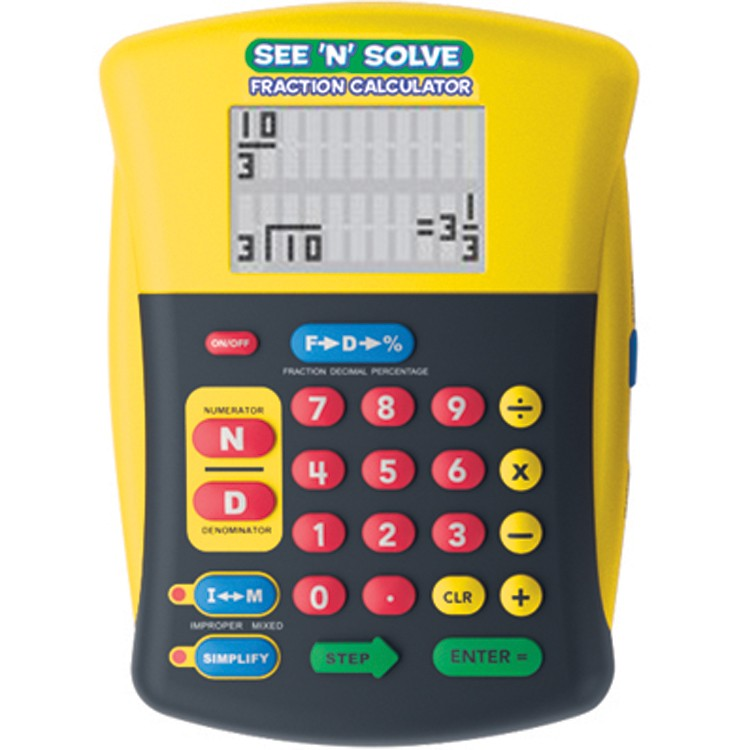 See N Solve Visual Fractions Calculator Educational Toys