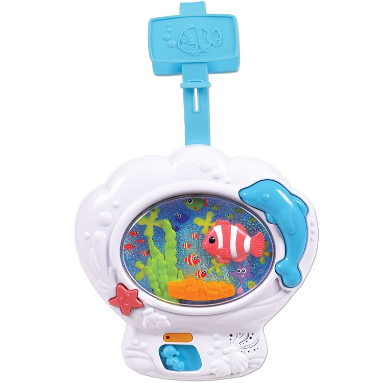 Musical fish tank baby soother crib toy educational toys for Toy fish tank