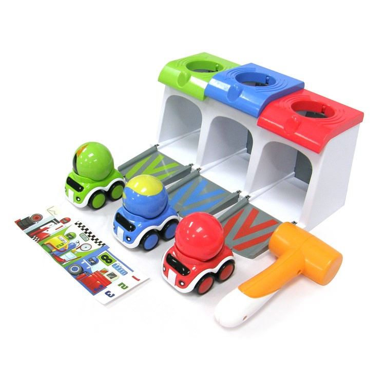 Race Cars Garage Toddler Activity Playset