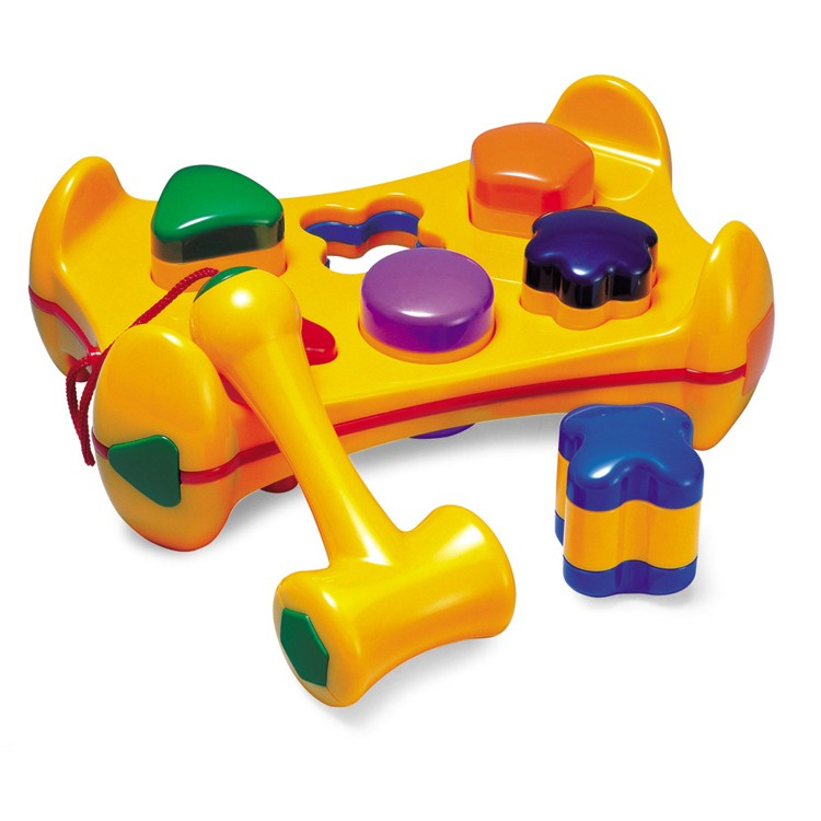 Pre School Toys : Shape sorter pound n play bench toddler toy educational