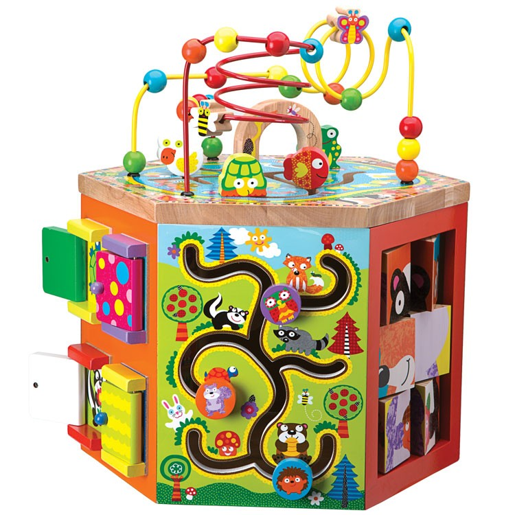 Manipulative Educational Toys : Woodland wonders toddler manipulative activity center
