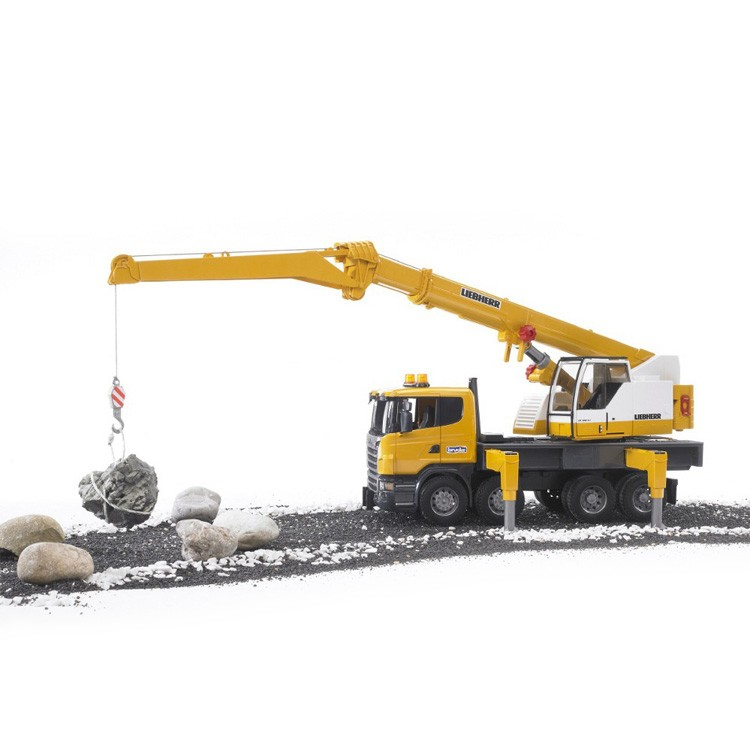 Bruder Construction Toys For Boys : Bruder scania r series liebherr toy crane truck