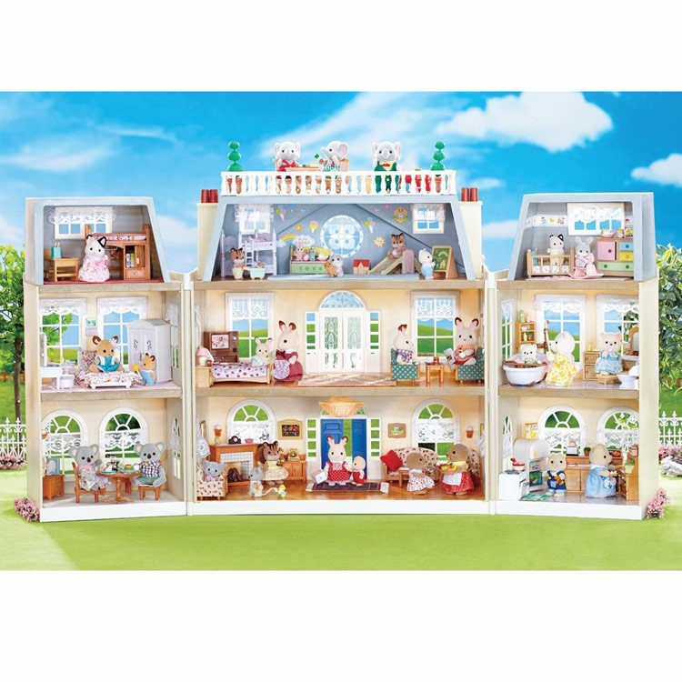 Calico Critters Cloverleaf Manor Super Deluxe Play House