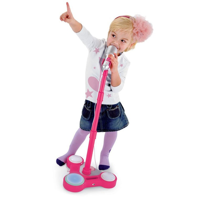 Sing Star Pink Toy Microphone With Stand Educational