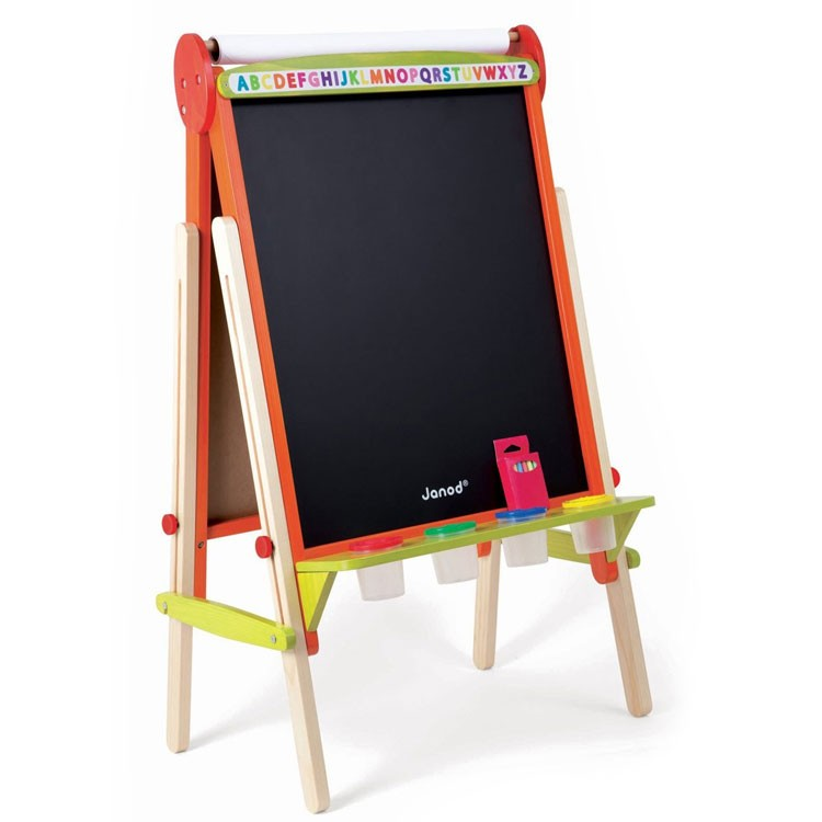 Kids Double Sided Adjustable Floor Easel Educational
