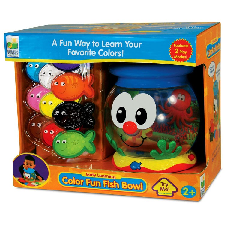 Color fun fish bowl toddler electronic toy educational for Fisher price fish bowl