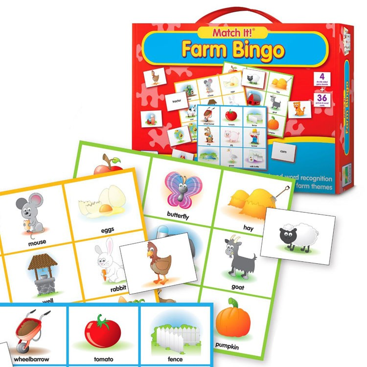 Farm Bingo Match It Game Educational Toys Planet