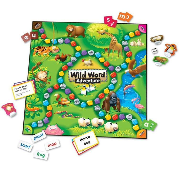Language Learning Toys : Wild word adventure early learning language game
