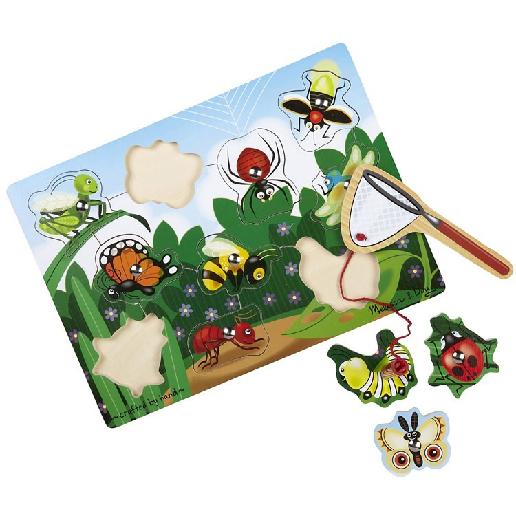 Bug Catching Game Wooden Magnetic Puzzle Educational