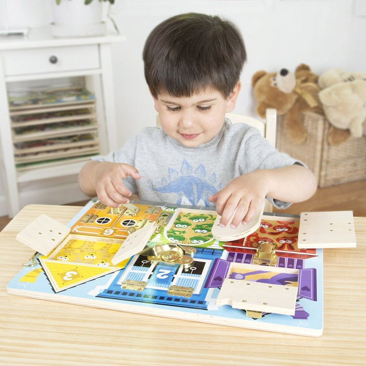 Manipulative Educational Toys : Latches board manipulative learning toy educational toys