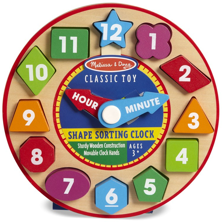 Day Care Learning Toys : Shape sorting clock preschool learning toy educational