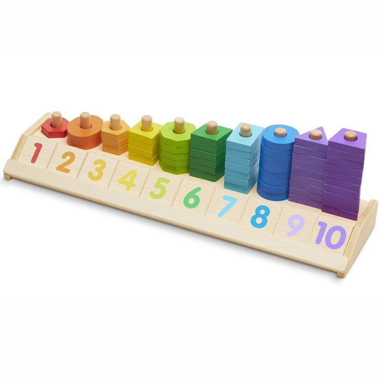 Counting Shape Stacker Early Math Learning Activity Toy ...
