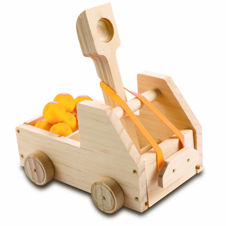 Kids Woodworking Building Set Truck Catapult