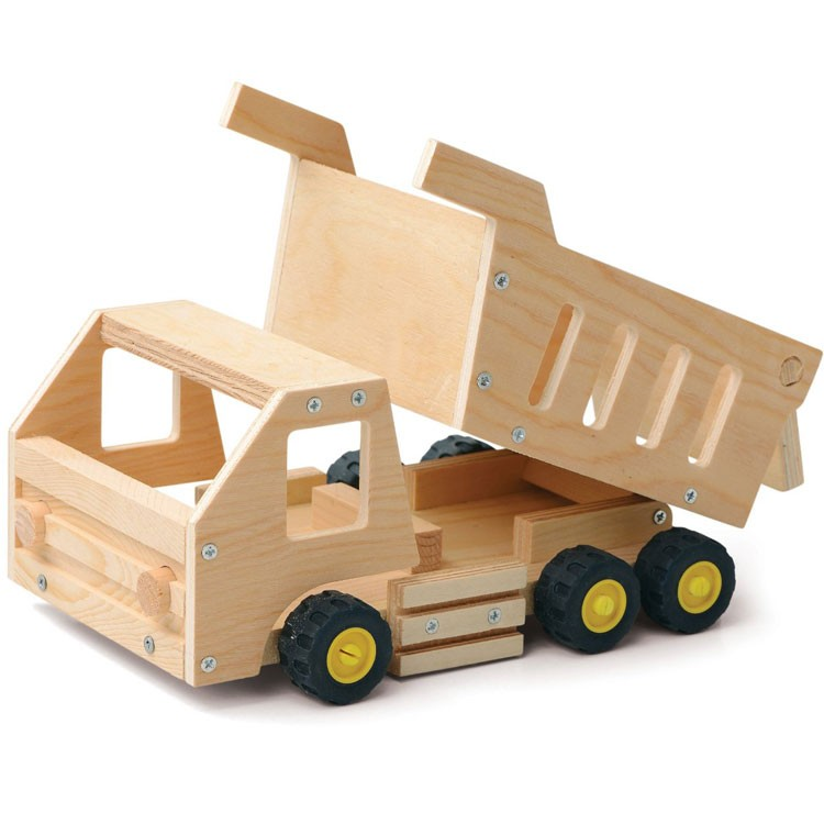Wooden Trucks Toys And Joys : Build a dump truck kids woodcrafting kit educational