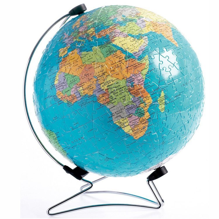 the earth 540 pc globe puzzleball with rotation stand. Black Bedroom Furniture Sets. Home Design Ideas
