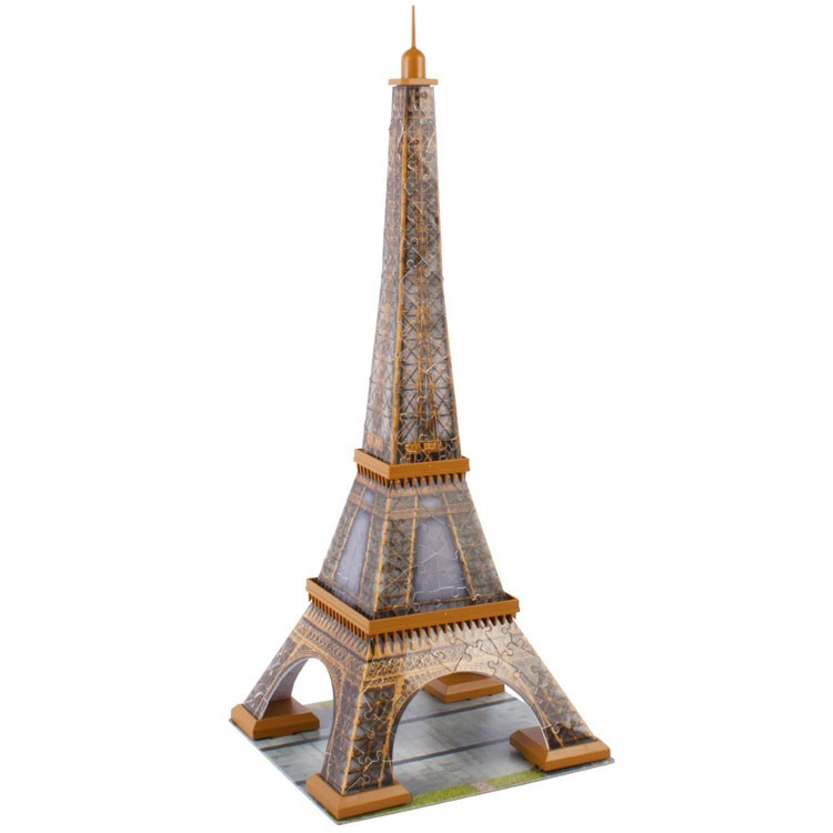 eiffel tower 216 pc 3d buildings puzzle educational toys planet. Black Bedroom Furniture Sets. Home Design Ideas