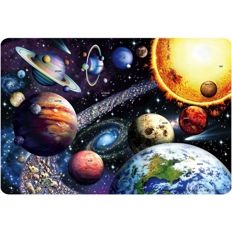 Solar System 24 Pc Giant Floor Puzzle Educational Toys