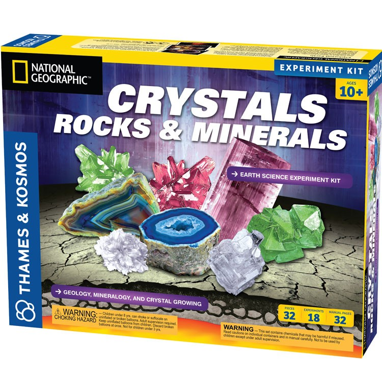 Crystals, Rocks & Minerals Science Kit - Educational Toys Planet