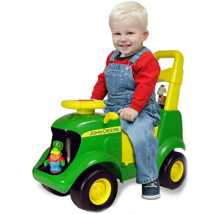 Toddler Riding Toys : John deere tractor scooter toddler ride on toy