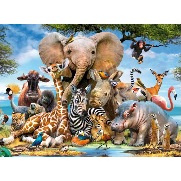 African Friends 300 Pc Animal Puzzle Educational Toys Planet