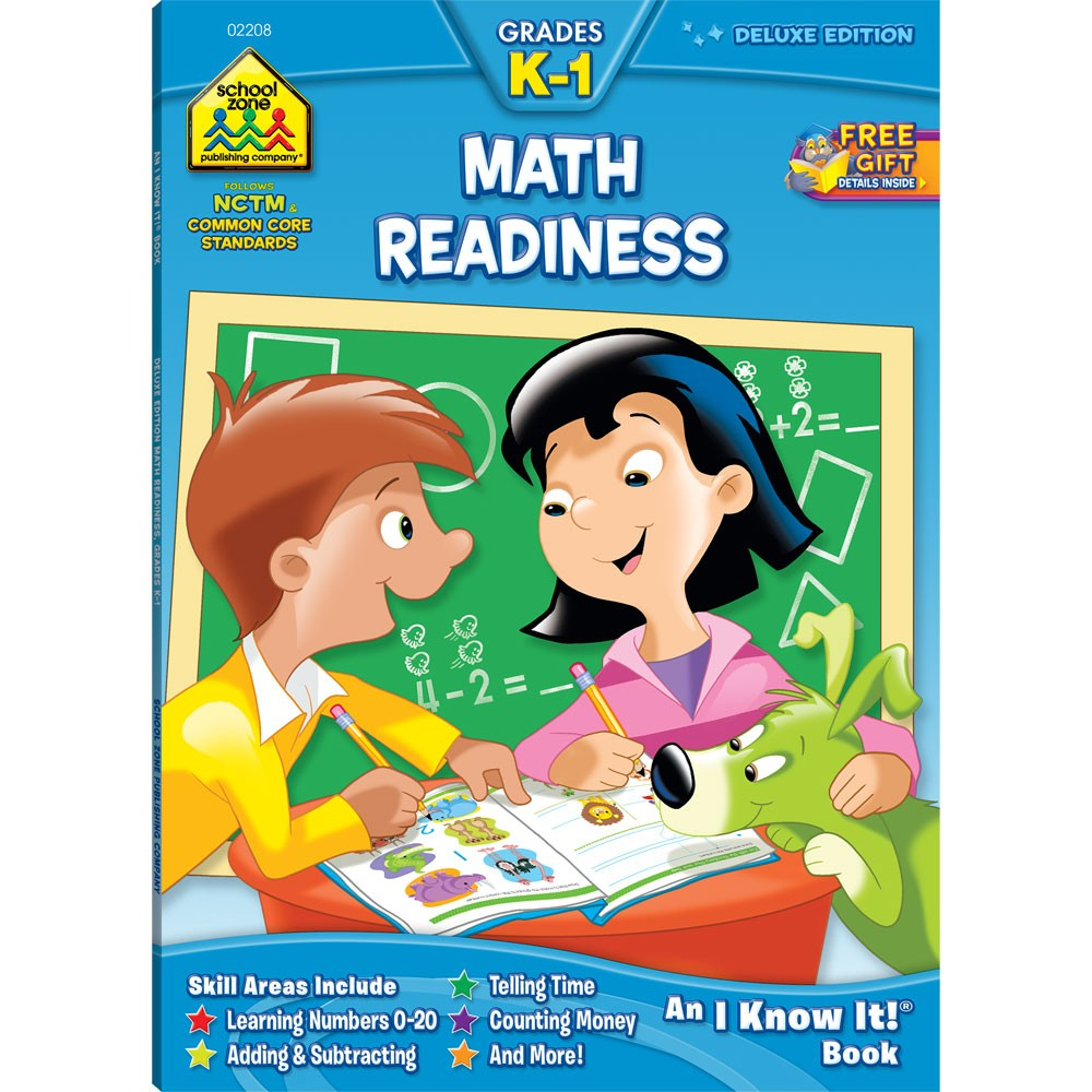 Math Readiness Grades K-1 Workbook - 64 Pages - Educational Toys Planet