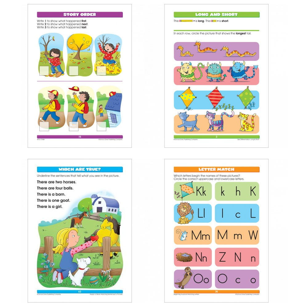 Toys For Grade 1 : Reading readiness pages workbook for kindergarten st