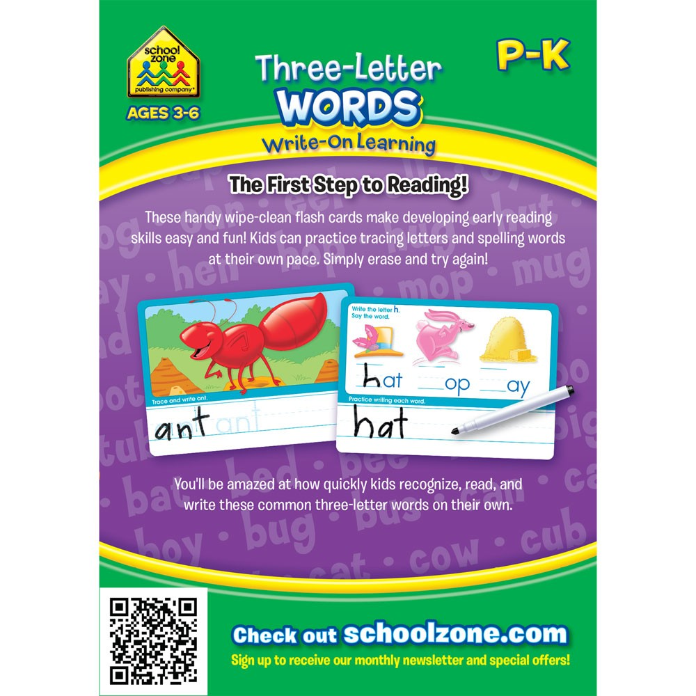 Three Letter Words Interactive Flash Cards Set Educational Toys Planet
