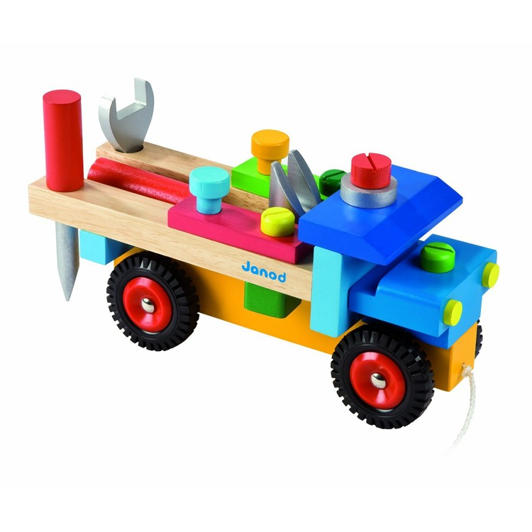 Toy Building Set For Boys : Build wooden truck vehicle construction set educational
