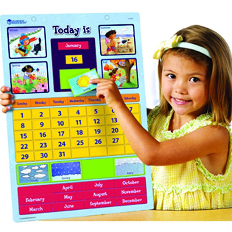 Kids Learning Calendar : Magnetic learning calendar educational toys planet