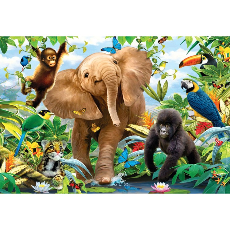 Jungle Juniors 24 Pc Floor Puzzle Educational Toys Planet