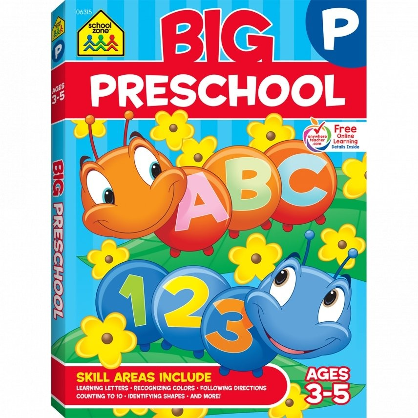 Big Preschool Workbook 320 Pages Educational Toys Planet