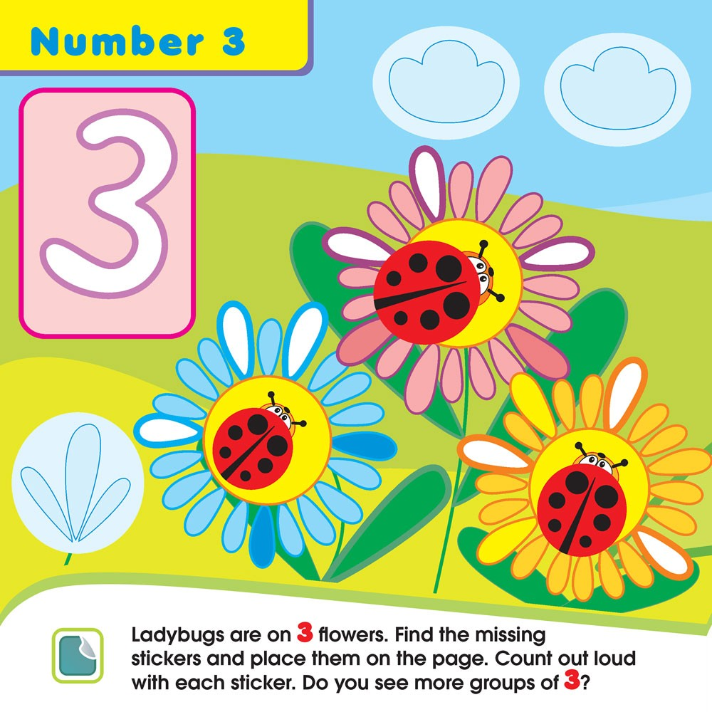 Little Ones Numbers Toddler Sticker Activity Book - Educational Toys ...