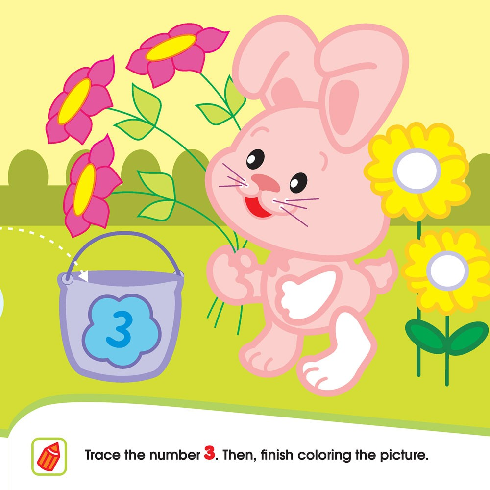 little ones numbers toddler sticker activity book