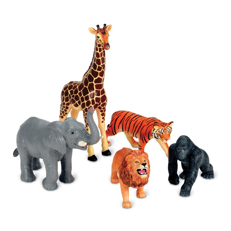 Best Animal Planet Toys For Kids And Toddlers : Jumbo jungle animals pc safari playset