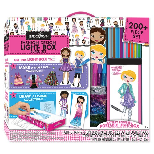 Fashion Design Light Box Travel Super Set For Girls Educational Toys Planet