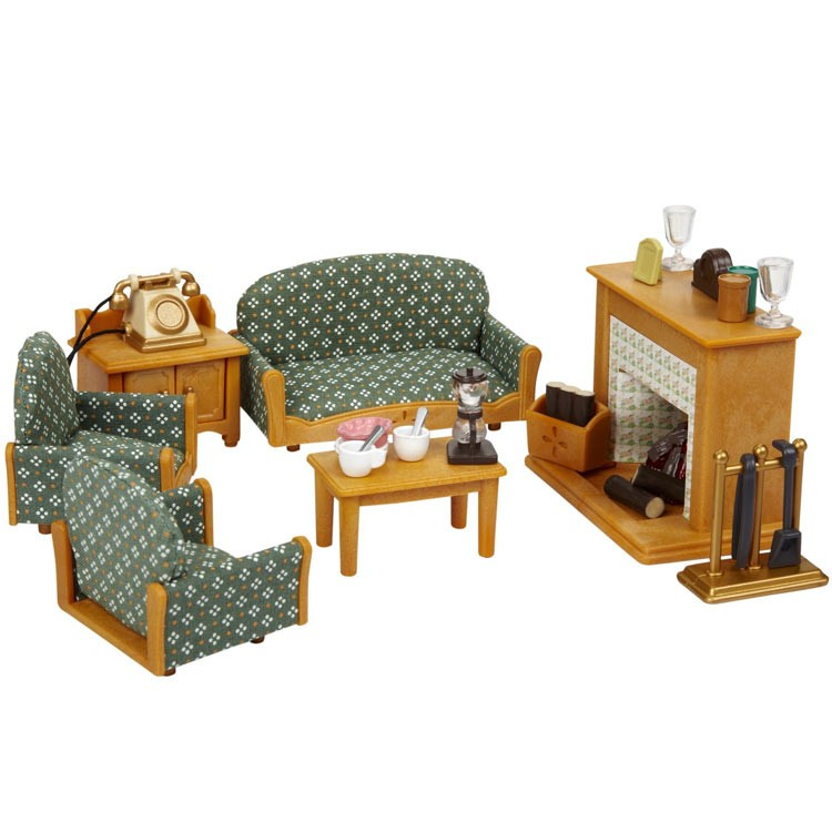 calico critters deluxe living room set - educational toys planet