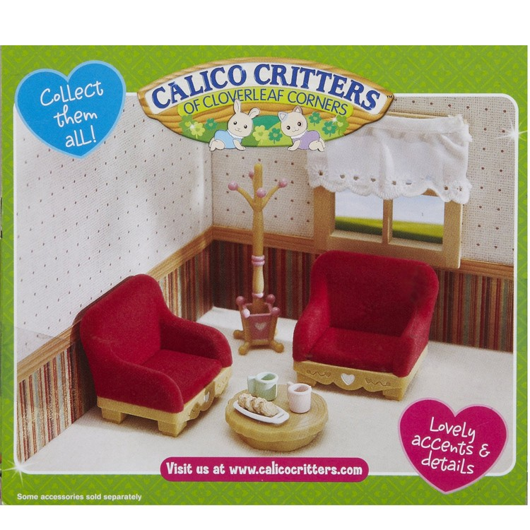 Calico critters country living room set educational toys - Calico critters deluxe living room set ...
