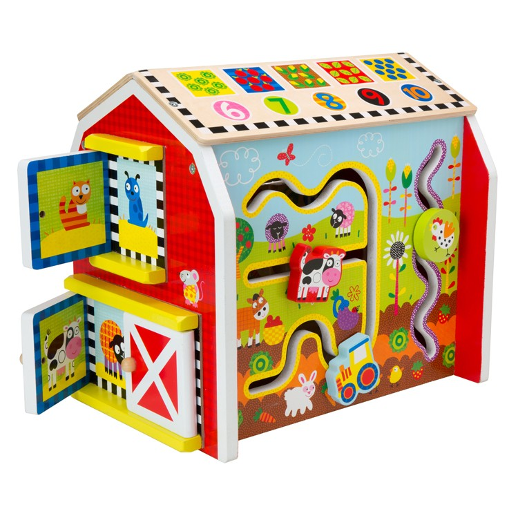 my busy barn toddler activity center educational toys planet. Black Bedroom Furniture Sets. Home Design Ideas