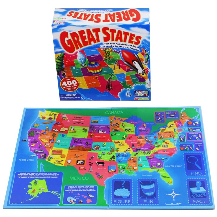 Great States US Map Board Game Educational Toys Planet - Us map of states game