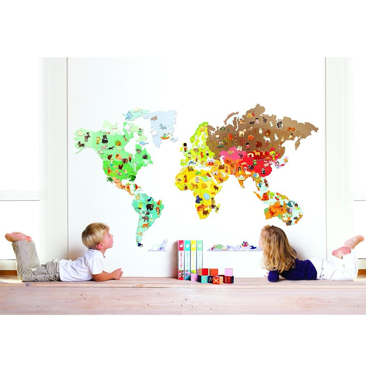 World map magnetistick magnetic wall stickers set educational world map magnetistick magnetic wall stickers set sciox Images