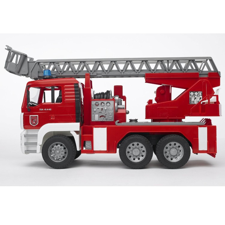 bruder man fire engine deluxe toy fire truck educational toys planet