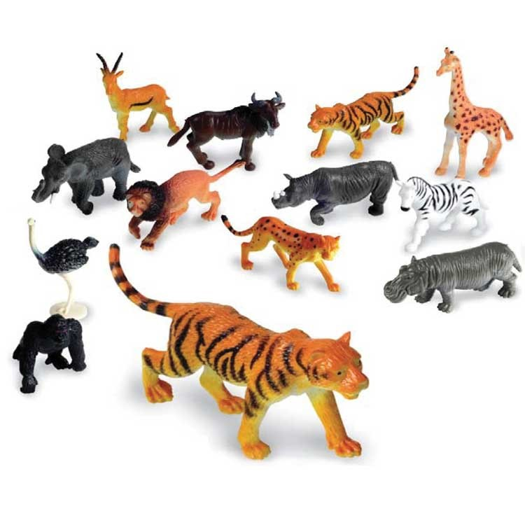 Jungle Animals Counters 60 Pc Counting Set on Science Social Studies