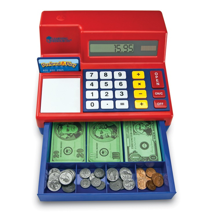 Toy Cash Register : Calculator cash register electronic learning toy