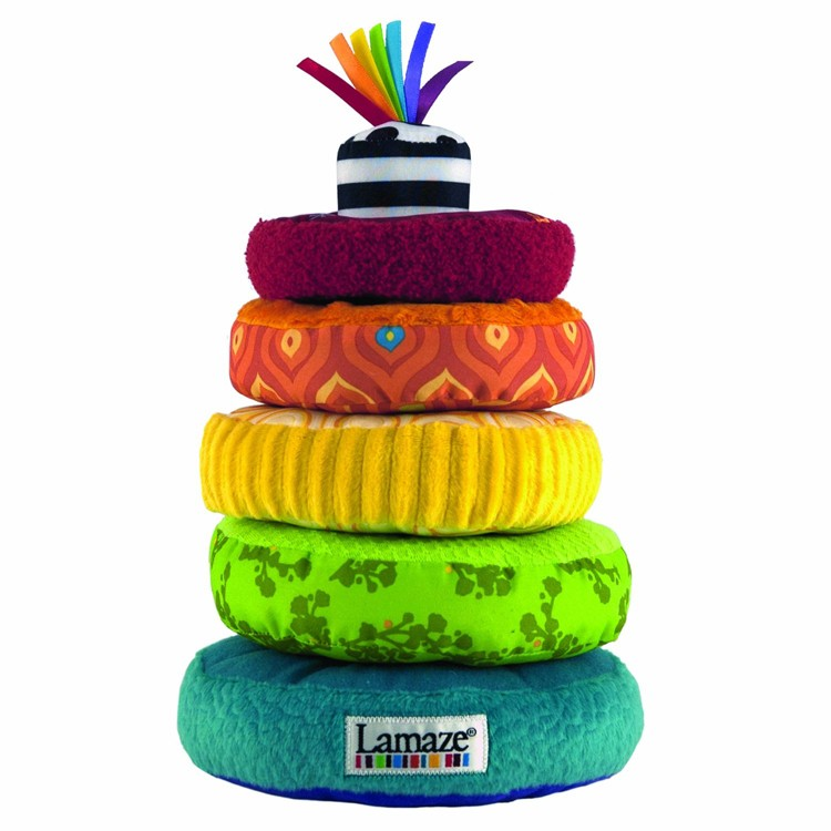 Stacking Rings Toy : Lamaze rainbow rings soft stacking baby toy educational