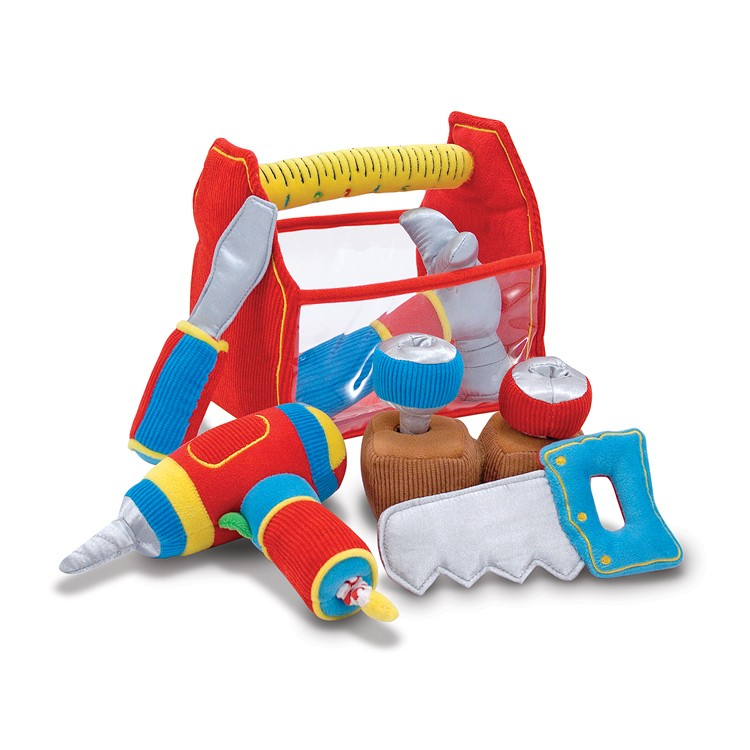 Toy Tools For Boys : Toolbox fill and spill baby soft toy tools set