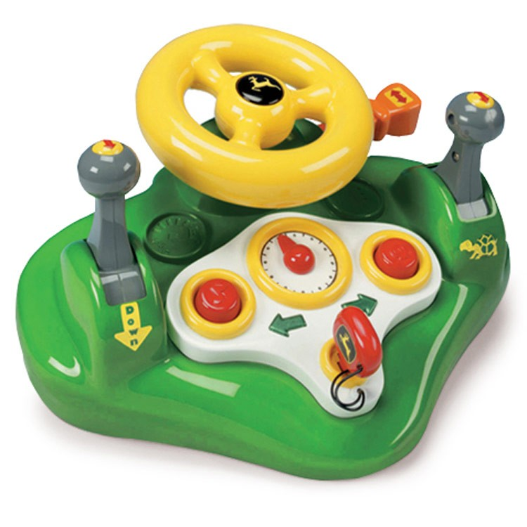 Electronic Learning Toys For Toddlers : John deere kids electronic steering wheel toy