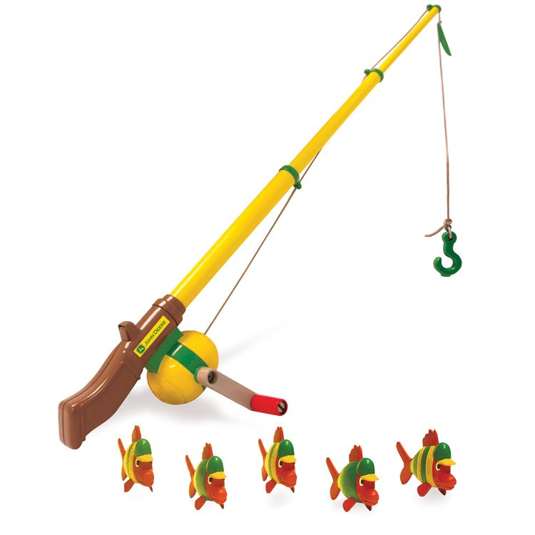 John deere kids fishing pole playset educational toys planet for Kids fishing poles