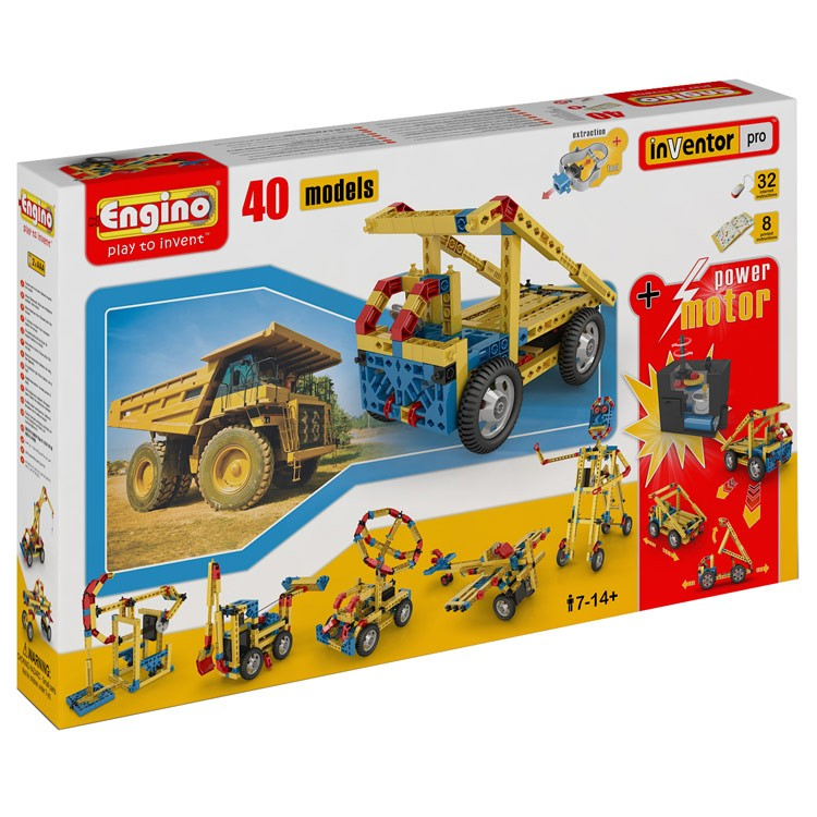 Engino 40 Model Building Kit with Motor - Educational Toys ...