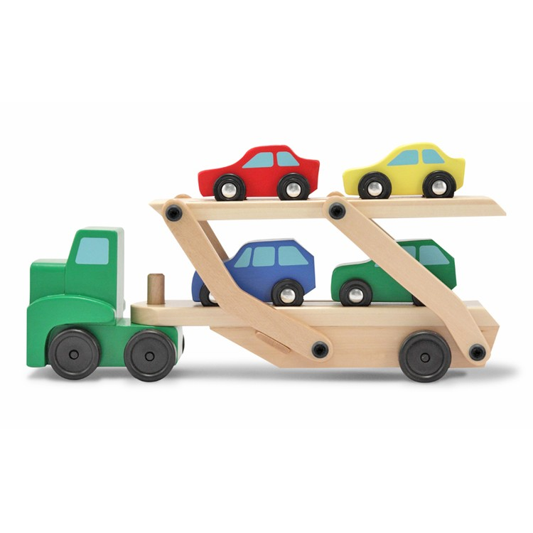 Toy Car Rack : Wooden toy car carrier truck educational toys planet